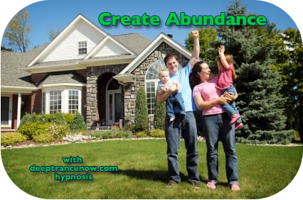 Create abundance with hypnosis