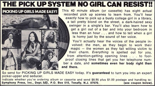 Hypnosis Vintage Ad Pick Up Girls System No Girl Can Resist
