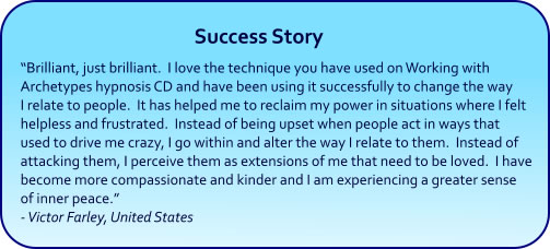 Archetypes Hypnosis CDs and mp3s - success story