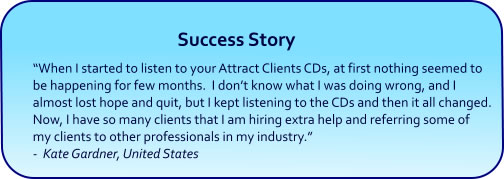 Attract Clients Hypnosis CDs and mp3 Downloads