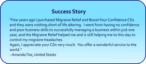 Boost Your Self Confidence Hypnosis CDs and mp3s succes story