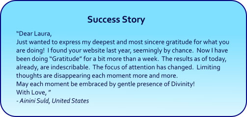 Gratitude hypnosis cds and mp3 downloads - success stories