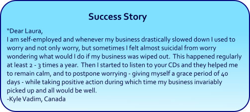 Stop Worrying Hypnosis success story