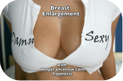 Breast Enlargement Hypnosis CDs and mp3 downloads, subliminal, affirmations - Breast Augmentation